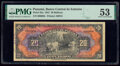 World Currency, Panama Banco Central de Emision 20 Balboas 1941 Pick 25a PMG About Uncirculated 53.. ...