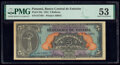 World Currency, Panama Banco Central de Emision 5 Balboas 1941 Pick 23a PMG About Uncirculated 53.. ...