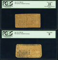 New Jersey April 10, 1759 15s PCGS Very Good 08; New Jersey April 12, 1760 12s PCGS Apparent Very Good 10. ... (Total: 2...