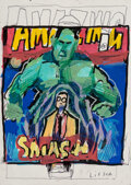 Works on Paper, Anthony Lister (b. 1979). Smash, 2019. Posca, ink and white out on paper. 7-5/8 x 5-3/4 inches (19.3...