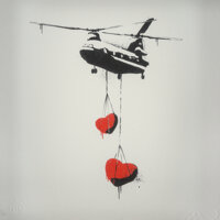 Martin Whatson (b. 1984) Chinook Hearts (Red), 2012 Screenprint in colors on wove paper 9 x 9 inches (22.9 x 22.9 cm)