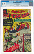 Silver Age (1956-1969):Superhero, The Amazing Spider-Man #14 (Marvel, 1964) CGC FN+ 6.5 Off-white to white pages....