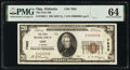 National Bank Notes:Alabama, Opp, AL - $20 1929 Ty. 1 The First National Bank Ch. # 7985 PMG Choice Uncirculated 64.. ...