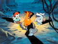 """Animation Art:Production Cel, Pinky and the Brain """"Star Warners"""" Brain, Wakko, Skippy, and Slappy Key Master Setup and Animation Drawings Group of 3..."""