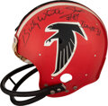 """Football Collectibles:Helmets, 1983 Billy """"White Shoes"""" Johnson Game Worn & Signed Atlanta Falcons Helmet...."""