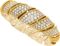 Jewelry, A Tiffany & Co. Diamond and Gold Bracelet . Stones: Full-cut diamonds weighing a total of approximately 10.95 carats. Metal:...
