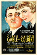 Movie Posters:Academy Award Winners, It Happened One Night (Columbia, 1934). Fine/Very Fine on ...