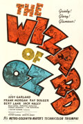Movie Posters:Fantasy, The Wizard of Oz (MGM, 1939). Fine+ on Linen. One ...