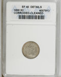 Early Half Dimes, 1800 H10C LIBEKTY--Corroded, Cleaned--ANACS....