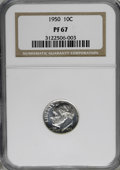 Proof Roosevelt Dimes: , 1950 10C PR67 NGC. NGC Census: (197/40). PCGS Population (180/4).Mintage: 51,386. Numismedia Wsl. Price for NGC/PCGS coin ...