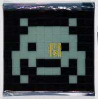 Invader (b. 1969) Invader Kit #15: Glow in the Space, 2013 Ceramic tiles 9-1/2 x 10-1/4 inches (2