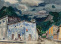 Works on Paper, Millard Sheets (American, 1907-1989). Brewing Storm, Mexico. Watercolor on paper. 20-1/4 x 28 inches (51.4 x 71.1 cm) (s...