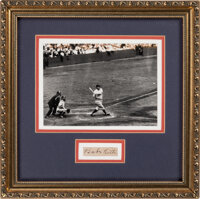 1930's Babe Ruth Signed Cut Signature Display