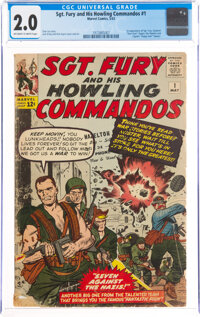 Sgt. Fury and His Howling Commandos #1 (Marvel, 1963) CGC GD 2.0 Off-white to white pages