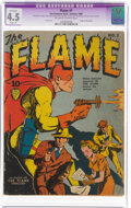 Golden Age (1938-1955):Superhero, The Flame #1 (Fox, 1940) CGC Apparent VG+ 4.5 Slight (P) Off-white to white pages....