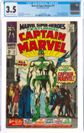 Silver Age (1956-1969):Superhero, Marvel Super-Heroes #12 Captain Marvel (Marvel, 1967) CGC VG- 3.5 Cream to off-white pages....