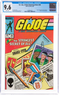 G. I. Joe, A Real American Hero #26 (Marvel, 1984) CGC NM+ 9.6 White pages