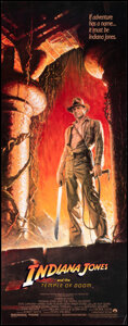 """Movie Posters:Adventure, Indiana Jones and the Temple of Doom (Paramount, 1984). Rolled, Very Fine+. Insert (14"""" X 36"""") Bruce Wolfe Artwork . Adventu..."""
