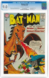 Batman #155 (DC, 1963) CGC VF/NM 9.0 Off-white to white pages