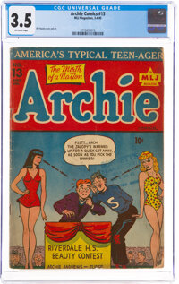 Archie Comics #13 (MLJ, 1945) CGC VG- 3.5 Off-white pages