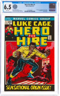 Hero for Hire #1 (Marvel, 1972) CGC FN+ 6.5 White pages