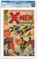 Silver Age (1956-1969):Superhero, X-Men #1 (Marvel, 1963) CGC GD+ 2.5 Cream to off-white pages....