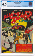 Golden Age (1938-1955):Superhero, All Star Comics #5 (DC, 1941) CGC VG+ 4.5 Off-white to white pages....