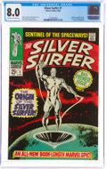 Silver Age (1956-1969):Superhero, The Silver Surfer #1 (Marvel, 1968) CGC VF 8.0 Off-white to white pages....