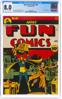 More Fun Comics #68 (DC, 1941) CGC VF 8.0 Off-white to white pages