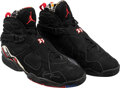 Basketball Collectibles:Others, 1993 Michael Jordan Eastern Conference Finals Game Four Worn & Signed Air Jordan VIII Sneakers--Photo Matched!...