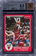 Basketball Cards:Singles (1980-Now), Signed 1984-85 Star Co. Michael Jordan Rookie #101 BGS NM-MT+ 8.5, Auto 10....