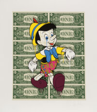 Ben Allen (b. 1979) Monster Pinocchio 3D, 2021 3D cut giclee in colors on Archival paper 28 x 24 inches (71.1 x 61 cm