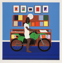 Dennis Osadebe (20th Century) Enjoy Yourself, 2021 Giclee print in colors on Hahnemule Museum Etching Fine Art paper
