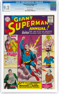 Superman Annual #2 (DC, 1960) CGC NM- 9.2 Off-white pages