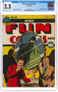 Golden Age (1938-1955):Superhero, More Fun Comics #65 (DC, 1941) CGC GD+ 2.5 Off-white to white pages....
