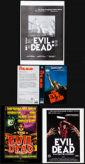 """Movie Posters:Horror, The Evil Dead Lot (Various, early 1980s). Overall: Very Fine. VHS Cover Inserts (3) (8"""" X 10"""" & 8.25"""" X 11.75""""), Promotional... (Total: 35 Items)"""