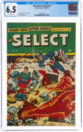 Golden Age (1938-1955):Superhero, All Select Comics #9 (Timely, 1945) CGC FN+ 6.5 Off-white pages....