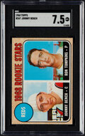 Baseball Cards:Singles (1960-1969), 1968 Topps Johnny Bench - Reds Rookies #247 SGC NM+ 7.5....