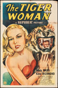 """Movie Posters:Crime, The Tiger Woman (Republic, 1945). Folded, Fine-. One Sheet (27"""" X 41""""). Crime.. ..."""