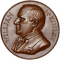 U.S. Presidents & Statesmen, Undated William McKinnley Medal, Inaugurated March 4, 1897, MS66 Brown NGC. Bronze, 77 mm. By Charles Barber...