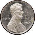 Errors, 1984-S Lincoln Cent -- Struck on a Dime Planchet -- PR63 Cameo NGC. 2.3 grams....