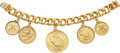 Jewelry, A Gold Coins and Gold Bracelet. Coins: $20 Saint-Gaudens Double Eagle 1908; $10 Liberty Head 1885 and 1893; $5 Liberty Head ...