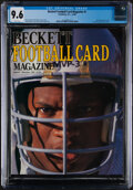 Football Collectibles:Publications, 1989 Beckett Football Magazine #1 Bo Jackson Cover - CGC 9.6 Pop Two With One Higher....