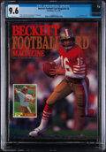 Football Collectibles:Publications, 1990 Beckett Football Magazine Joe Montana Cover - CGC 9.6, Pop Two With Two Higher. ...