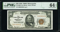 Fr. 1880-I $50 1929 Federal Reserve Bank Note. PMG Choice Uncirculated 64 EPQ