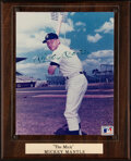 Autographs:Photos, Mickey Mantle Signed Photograph Display. ...