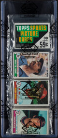 Baseball Cards:Unopened Packs/Display Boxes, 1979 Topps Baseball Rack Pack - Ozzie Smith Rookie Year! ...