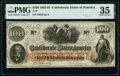 Confederate Notes:1862 Issues, John Young Manuscript Endorsement T41 $100 1862 PF-20 Cr. 316A PMG Choice Very Fine 35.. ...