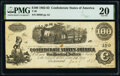 """Confederate Notes:1862 Issues, Manuscript Endorsement """"Capt. A(lexander) L(ongtreet) Steele"""" T40 $100 1863 PF-20 Cr. 308 PMG Very Fine 20.. ..."""