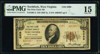 Northfork, WV - $10 1929 Ty. 2 The First Clark National Bank Ch. # 8309 PMG Choice Fine 15